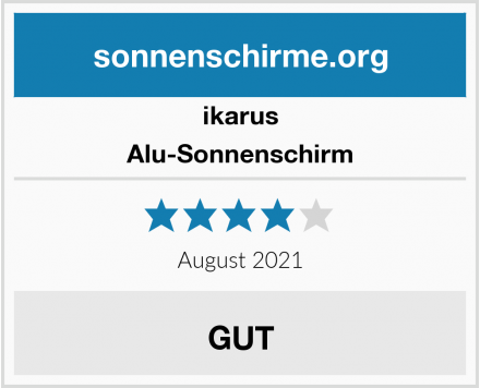 ikarus Alu-Sonnenschirm Test