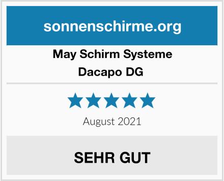 May Schirm Systeme Dacapo DG  Test