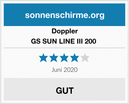 Doppler GS SUN LINE III 200  Test