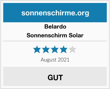 Belardo Sonnenschirm Solar Test