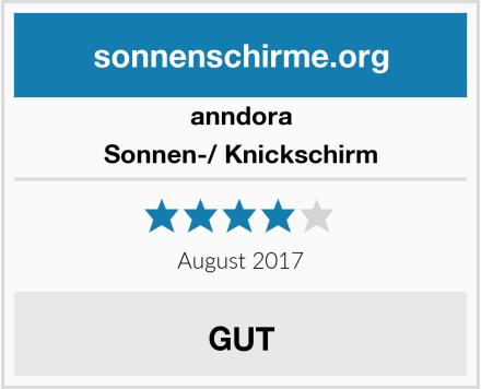 anndora Sonnen-/ Knickschirm Test