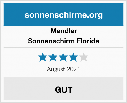Mendler Sonnenschirm Florida Test