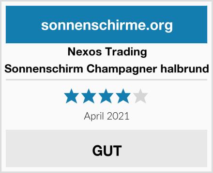 Nexos Trading Sonnenschirm Champagner halbrund Test
