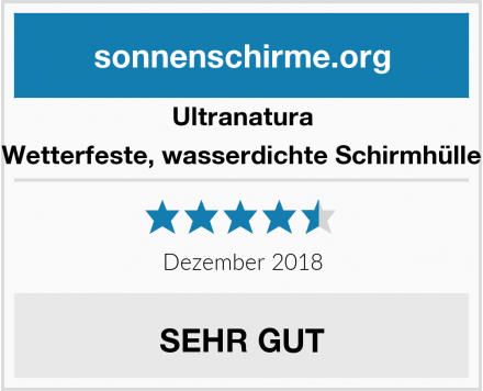 Ultranatura Wetterfeste, wasserdichte Schirmhülle Test