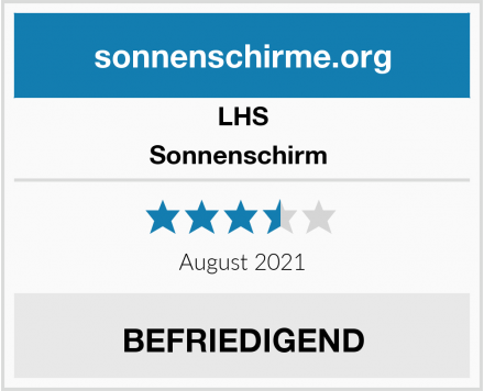 LHS Sonnenschirm  Test
