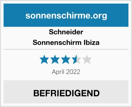 Schneider Sonnenschirm Ibiza Test