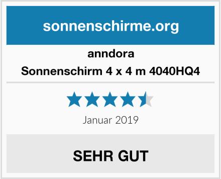 anndora Sonnenschirm 4 x 4 m 4040HQ4 Test
