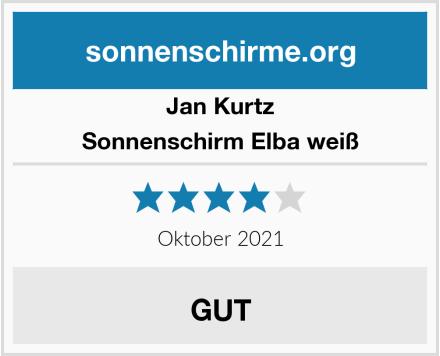 Jan Kurtz Sonnenschirm Elba weiß Test