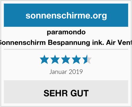 paramondo Sonnenschirm Bespannung ink. Air Vent  Test