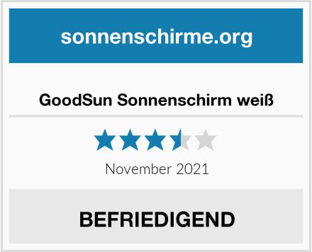 No Name GoodSun Sonnenschirm weiß Test