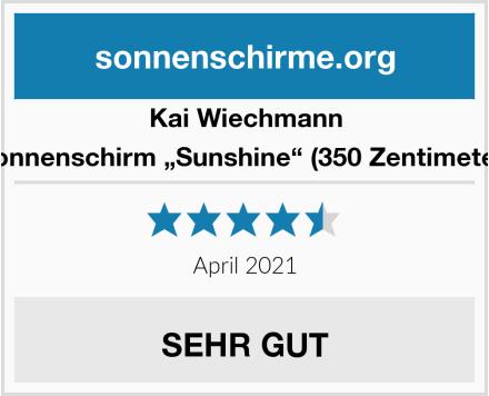 """Kai Wiechmann Sonnenschirm """"Sunshine"""" (350 Zentimeter) Test"""
