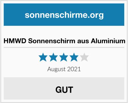 HMWD Sonnenschirm aus Aluminium Test
