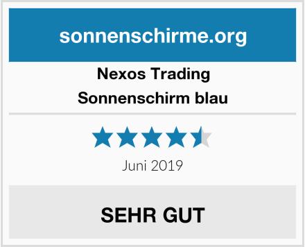 Nexos Trading Sonnenschirm blau Test
