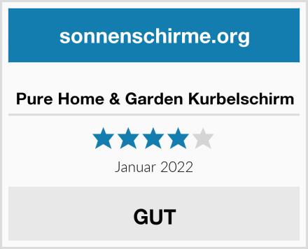 Pure Home & Garden Kurbelschirm Test