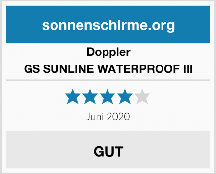 Doppler GS SUNLINE WATERPROOF III Test