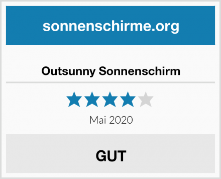 Outsunny Sonnenschirm Test