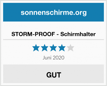 STORM-PROOF - Schirmhalter Test