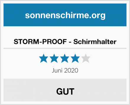 STORM-PROOF - Schirmhalter Test