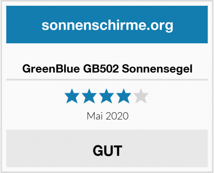 No Name GreenBlue GB502 Sonnensegel Test