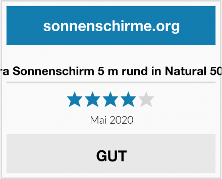 No Name anndora Sonnenschirm 5 m rund in Natural 5000HQ2 Test