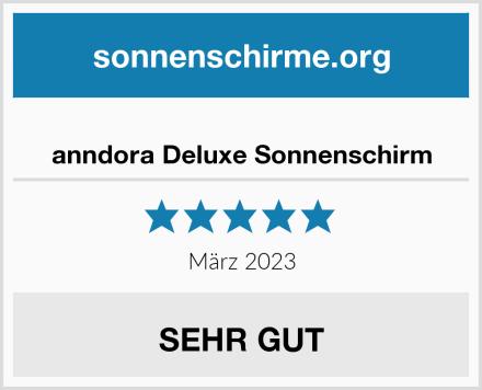 anndora Sonnenschirm 5 m rund in Natural 5000HQ2 Test