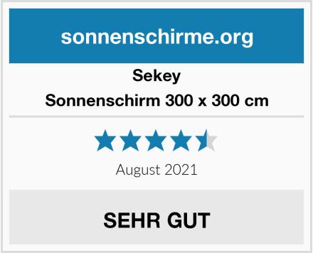 Sekey Sonnenschirm 300 x 300 cm Test