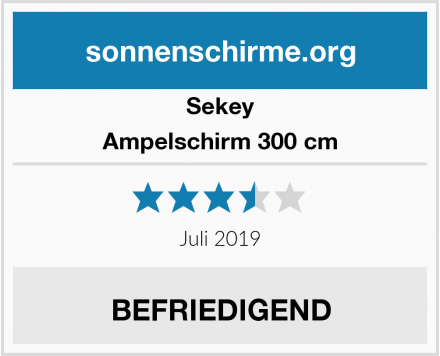 Sekey Ampelschirm 300 cm Test