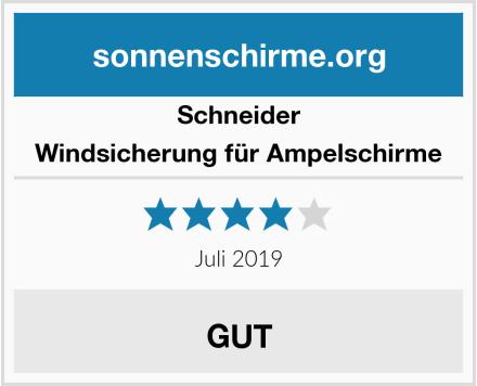Schneider Windsicherung für Ampelschirme Test