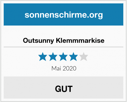 Outsunny Klemmmarkise Test
