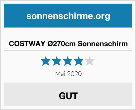 No Name COSTWAY Ø270cm Sonnenschirm Test