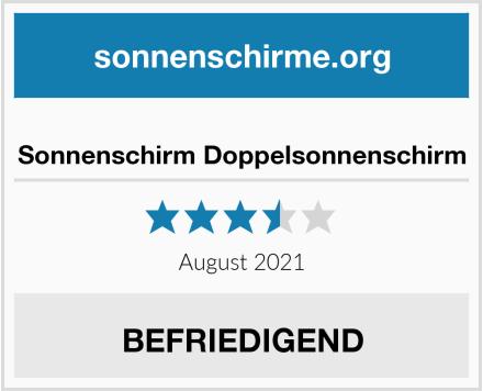 No Name Sonnenschirm Doppelsonnenschirm Test