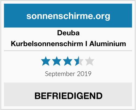 Deuba Kurbelsonnenschirm I Aluminium Test