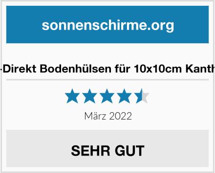 KS-Direkt Bodenhülsen für 10x10cm Kantholz Test