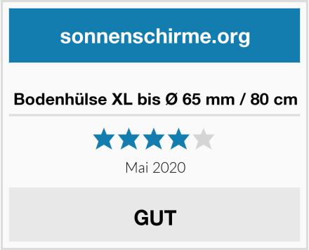 Bodenhülse XL bis Ø 65 mm / 80 cm Test