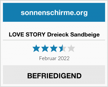 LOVE STORY Dreieck Sandbeige Test