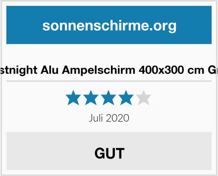 Festnight Alu Ampelschirm 400x300 cm Grau Test