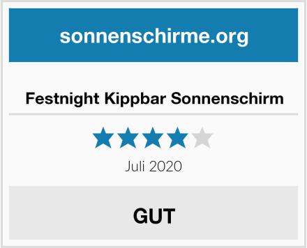 Festnight Kippbar Sonnenschirm Test