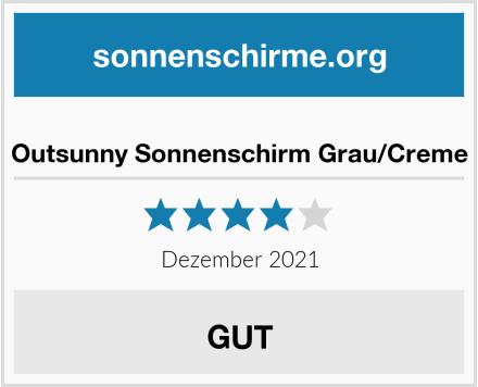 Outsunny Sonnenschirm Grau/Creme Test