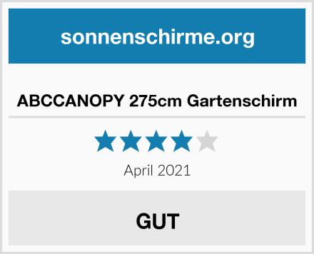 ABCCANOPY 275cm Gartenschirm Test