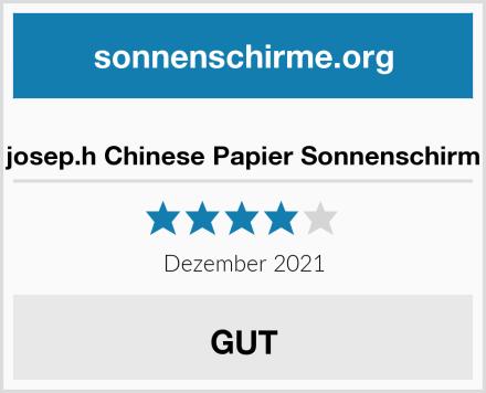 josep.h Chinese Papier Sonnenschirm Test