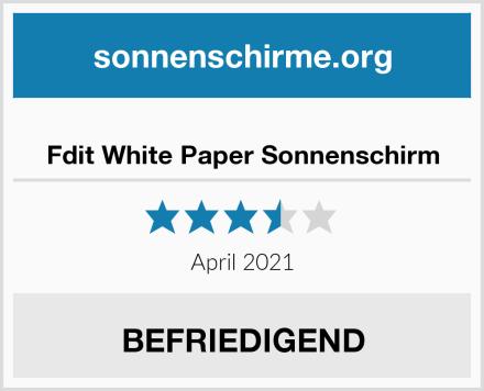 Fdit White Paper Sonnenschirm Test
