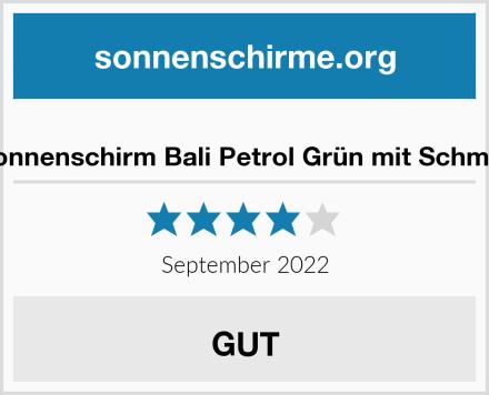 zeitzone Sonnenschirm Bali Petrol Grün mit Schmucksteinen Test
