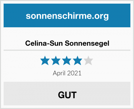 Celina-Sun Sonnensegel Test