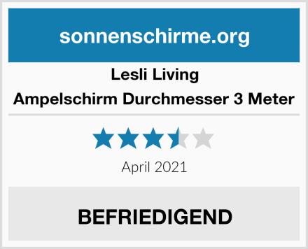 Lesli Living Ampelschirm Durchmesser 3 Meter Test