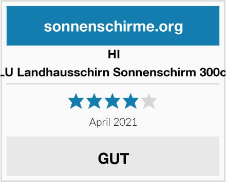 HI Sonnenschirm ALU Landhausschirn Sonnenschirm 300cm Test