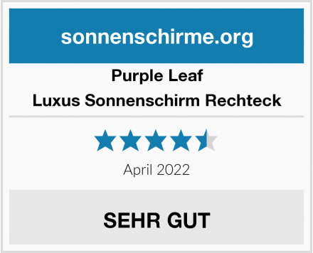 Purple Leaf Luxus Sonnenschirm Rechteck Test