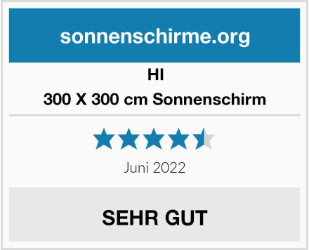 HI Sonnenschirm 300 X 300 cm Sonnenschirm Test