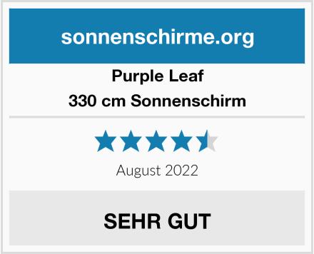 Purple Leaf 330 cm Sonnenschirm Test