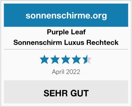 Purple Leaf Sonnenschirm Luxus Rechteck Test