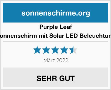 Purple Leaf Sonnenschirm mit Solar LED Beleuchtung Test